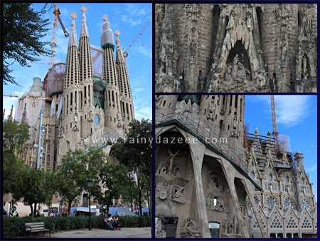 Sagrada Familia by Gaudi in Barcelona, Spain